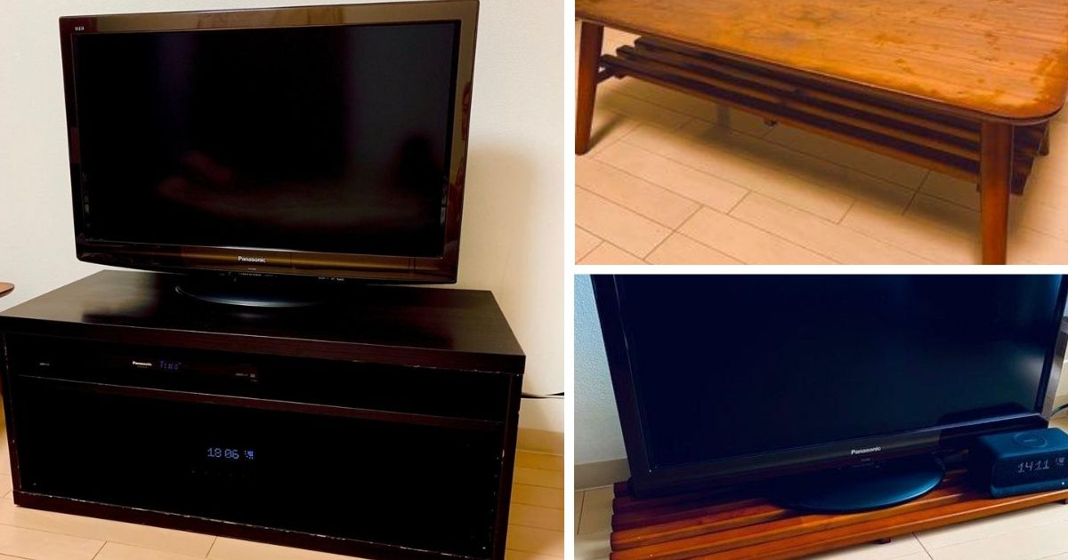 ミニマリストのテレビボード
