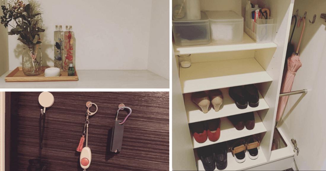 一人暮らし30代ミニマリスト女性の部屋(玄関と靴箱)