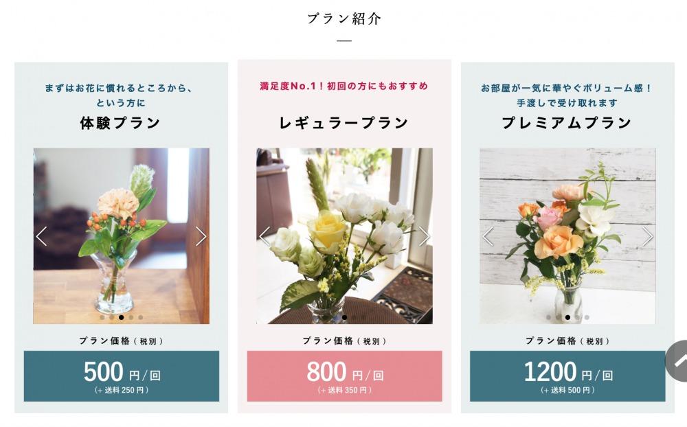 花の定期便「ブルーミーライフ」の料金プラン