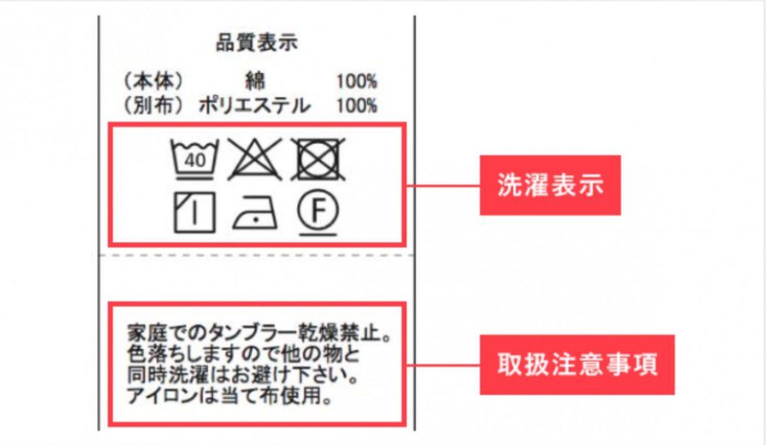 洗濯表示と取扱注意事項