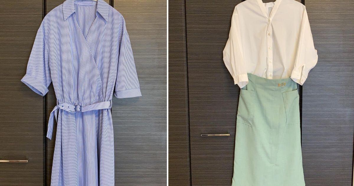 エアークローゼットで実際に届いた洋服の一例