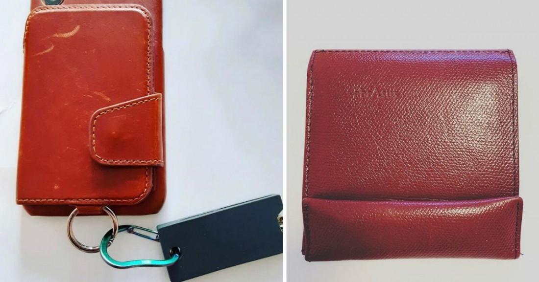 スマホケース、キーカバー、アブサラスの財布の写真